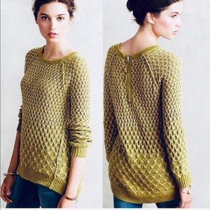 Anthro Moth Dot-Dot Pullover Sweater